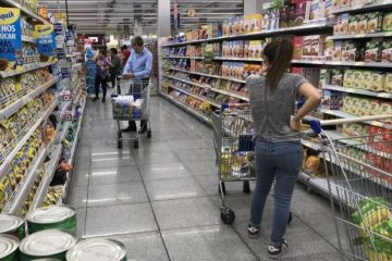 Caen las ventas: supermercados 13,5 % y en shoppings 18.7%